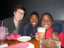 Dinner theatre - little man loved his hot chocolate.